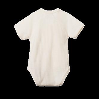 Pointelle Short Sleeve Kimono Bodysuit